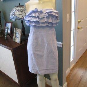 Vineyard Vines Seersucker Strapless Dress 0o XXS
